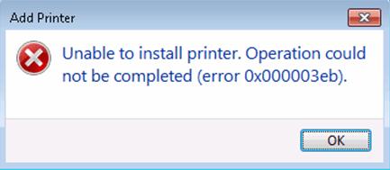 (Riješeno) Printer nije moguće instalirati. Rad nije mogao biti dovršen