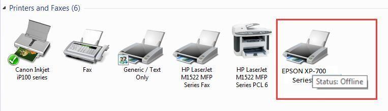 Epson printeris bezsaistē (atrisināts)