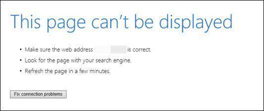(Nasveti za 2020) Internet Explorer ne more prikazati spletne strani