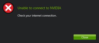 (RISINĀTS) Nevar izveidot savienojumu ar NVIDIA kļūdu