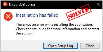 (Gelöst) Discord-Installation ist fehlgeschlagen (leicht)