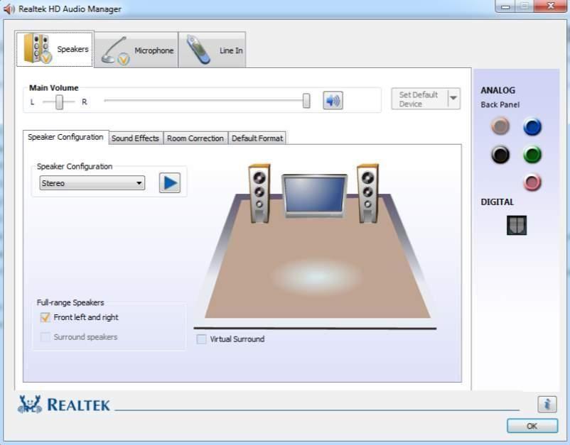 Realtek HD Audio Manager non si apre (risolto)