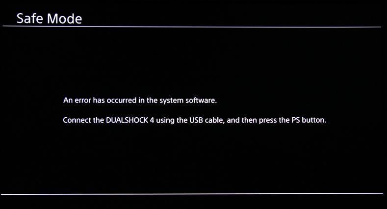 Como tirar o PS4 do modo de segurança