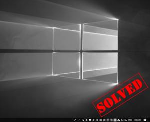 Windows 10の白黒画面(解決済み)