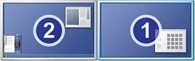 Windows 7 divu monitoru iestatīšana (soli pa solim)
