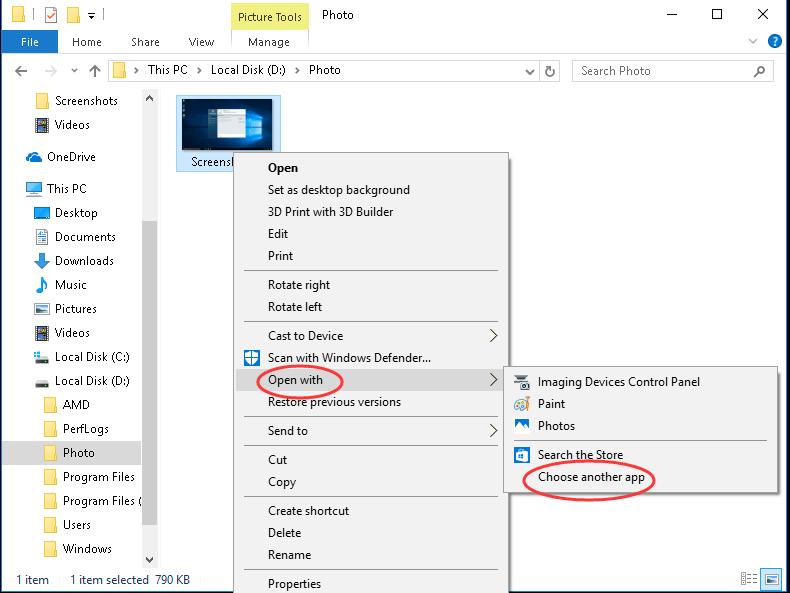 (SOLVED) विंडोज 10 में विंडोज फोटो व्यूअर को पुनर्स्थापित करें